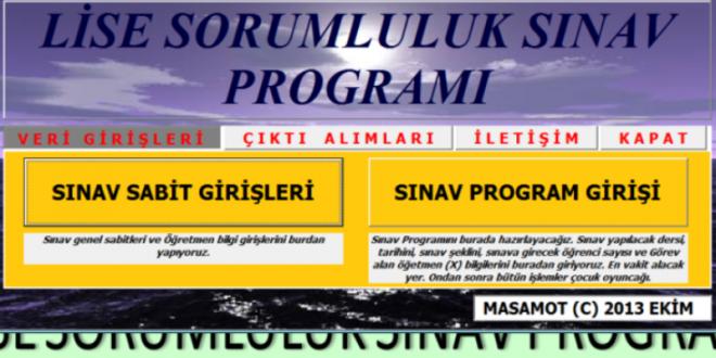 Ortaöğretim Sorumluluk Sınav Programı 11/10/2013