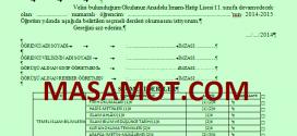 2014-2015 Seçmeli Ders Dilekçeleri (AİHL)