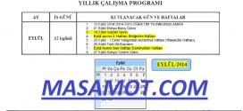 2014-2015 İdareci Yıllık Çalışma Planı