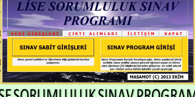 Lise Sorumluluk Sınav Programı (Yeni)
