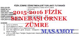 2015-2016 Öğretim Yılı Fizik Dersi Sene Başı Zümresi