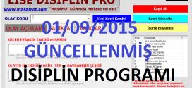 LİSE DİSİPLİN PROGRAMI 01/09/2015