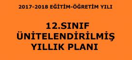 2017-2018 12. Sınıf Fizik Dersi Ünitelendirilmiş Yıllık Planı